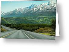 Scenic Drive On The Glenn Highway Greeting Card