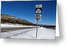 Scenic Highway 12 With Snow Utah Greeting Card