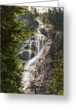 Scenic Of Shannon Fallsbritish Columbia Greeting Card