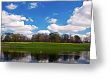 Scenic Park Lake In Spring Time Greeting Card
