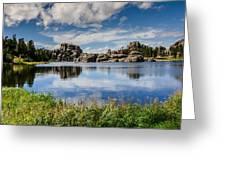 Scenic Sylvan Lake At Custer State Park Greeting Card