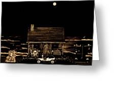 Scenic View At Night Greeting Card by Leslie Crotty