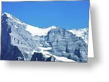 Scenic View Of Eiger And Monch Mountain Greeting Card