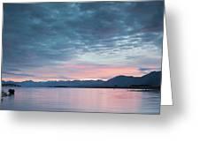 Scenic View Of Lake At Dusk, Lake Greeting Card
