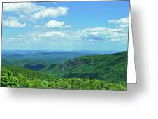 Scenic View Of Mountain Range, Blue Greeting Card