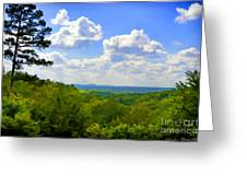 Scenic View Of So Mo Ozarks - Digital Paint Greeting Card