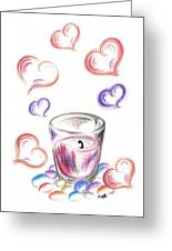 Scented Candle With Love Greeting Card