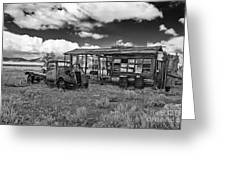 Schellbourne Station And Old Truck Greeting Card by Robert Bales