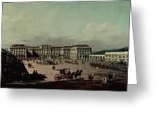 Schloss Schonbrunn, 1759-60 Oil On Canvas Greeting Card