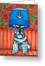Schnauzer At The Salon Greeting Card by Jay  Schmetz