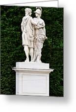 Schonbrunn Palace In Vienna Austria - Garden Statue Detail Greeting Card