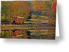 School Days Of Autumn Greeting Card