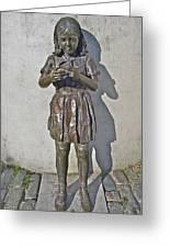 School Girl Sculpture In Saint John's-nl Greeting Card