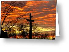School Totem Pole Sunrise Greeting Card