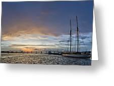 Schooner Germania Nova Sunset Greeting Card by Dustin K Ryan