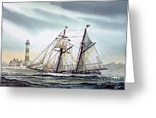 Schooner Light Greeting Card
