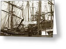 Schooner Luisa D Sails For Nome Alaska  About April 18 1902 Greeting Card