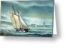 Schooner Voyager Greeting Card by James Williamson