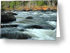 schroon Rapids in Autumn Greeting Card