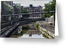 Schuylkill Canal In Manayunk Greeting Card by Bill Cannon