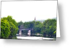 Schuylkill River At Manayunk Philadelphia Greeting Card