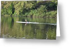 Schuylkill Rower Greeting Card by Bill Cannon