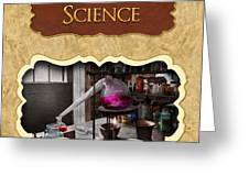 Science Button Greeting Card by Mike Savad