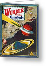 Science Fiction Cover, 1931 Greeting Card