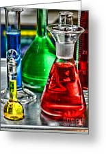Science - Lab Glass Greeting Card