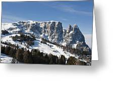 Sciliar's Mountains Greeting Card