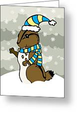 Scoot Winter Greeting Card by Christy Beckwith