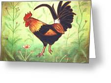 Scooter The Rooster Greeting Card