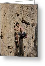 Scorched Earth Climbing 1 Greeting Card