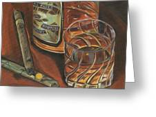 Scotch And Cigars 3 Greeting Card