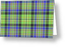 Scott Ancient Green Tartan Greeting Card