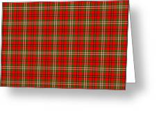 Scott Red Tartan Variant Greeting Card by Gregory Scott