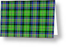Scott Tartan Variant Greeting Card by Gregory Scott