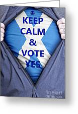 Scottish Businessman Votes Yes Greeting Card