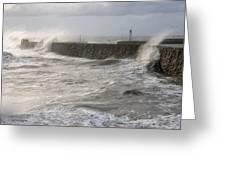 Scottish Sea Storm Greeting Card