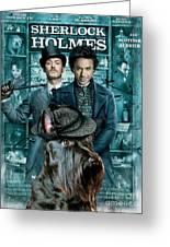 Scottish Terrier Art Canvas Print - Sherlock Holmes Movie Poster Greeting Card