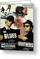 Scottish Terrier Art Canvas Print - The Blues Brothers Movie Poster Greeting Card by Sandra Sij
