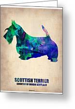 Scottish Terrier Poster Greeting Card