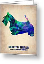 Scottish Terrier Poster Greeting Card by Naxart Studio