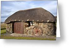 Scottish Thatched Cottage Greeting Card