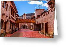 Scotty's Castle Courtyard Greeting Card