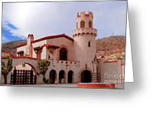 Scotty's Castle Greeting Card by Kathleen Struckle