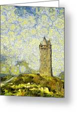 Starry Scrabo Tower Greeting Card