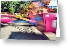 Scrambler Blur Greeting Card