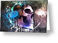 Scrap Skull Greeting Card