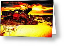 Junk In The Afternoon Sun Greeting Card